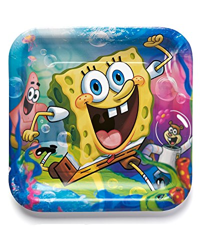 Fantastic Deal! American Greetings Spongebob Party Supplies, Square Paper Dinner Plates (8-Count)
