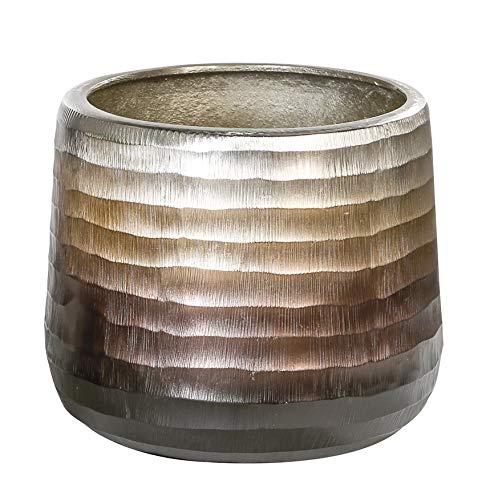 Casablanca - Macetero de aluminio con corte ondulado antiguo (19 cm)