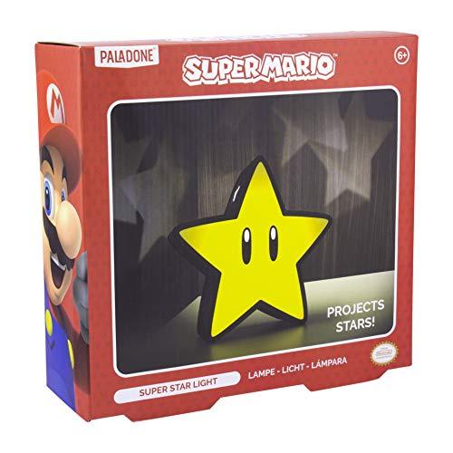 Paladone PP5100NN Star Light con proyección | Luz de Humor Coleccionable Super Mario Bros, Regalo Perfecto para los fanáticos, Amigos o Familiares, Multicolor