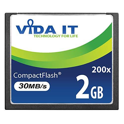 Vida IT 2GB Compact Flash CF 200X Scheda di Memoria Alta Velocità, 30MB s, IDE 50 pin per Canon EOS 10D EOS 20D 20Da EOS 300D 30D 350D 400D 40D 50D 5D Mark II EOS 7D EOS D30 SLR Camera Videocamera