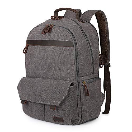 S-ZONE Canvas Camera Backpack DSLR SLR Case Bag 15.6 inch Laptop Tripod Camera Bag Backpack