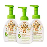 Babyganics Alcohol-Free Foaming Hand Sanitizer, Pump Bottle, Mandarin, 8.45 Oz, 3 Pack, Packaging May Vary