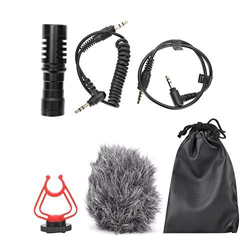 Qiilu cardioïde microfoon, professionele condensator microfoon opname interview mobiele telefoon live MIC voor DSLR camera