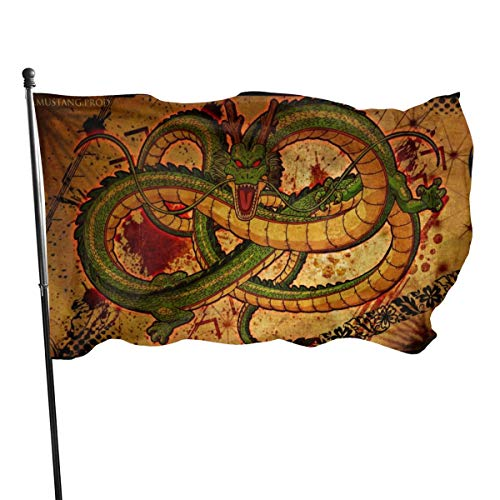 N/A American Guard Flag Banner Home Flags Download Chinese Dragon Drawing Vertical Yard for Family Patio College Decoration 91 x 152 cm