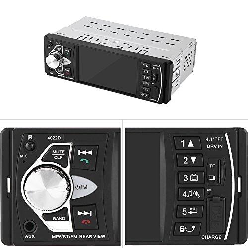 Autoradio Bluetooth, Keenso Lecteur MP5 de voiture HD TFT 4,1\