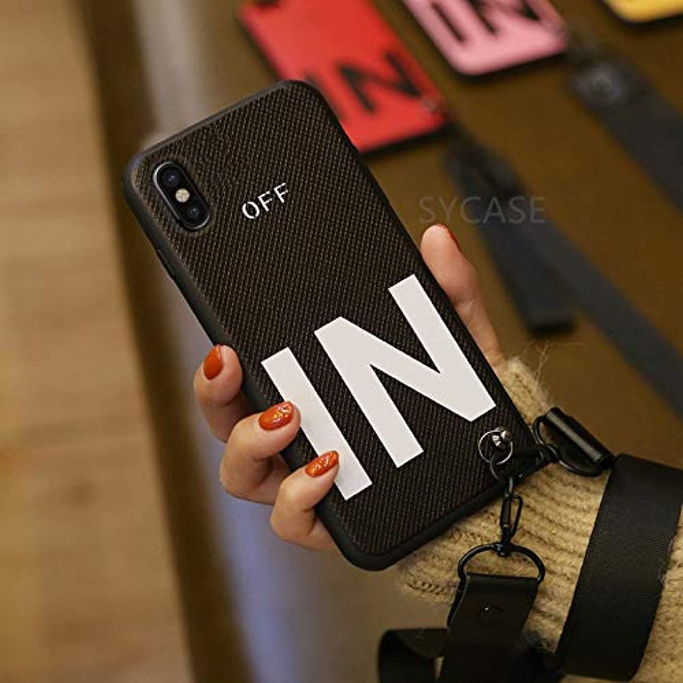 Fitted Cases - Hot Popular Fashion in Letters Hand Strap Lanyard Phone case for iPhone X XR Xs Max 6 6S 7 8 Plus Soft Silicon Back Cover - by John_Kendy - 1 PCs