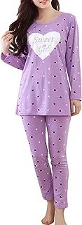 MyFav Girls' Comfy Sleepwear Hearts Shape Pajama Set Sweet Dream Leisure Nighty