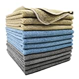 Polyte Microfiber Cleaning Cloth (14x14, 12 Pack, Professional)