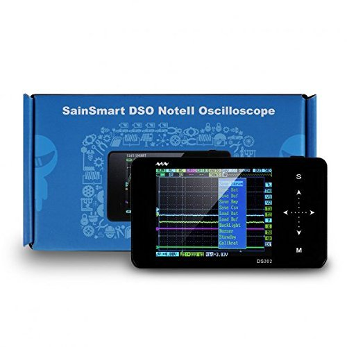 SainSmart DSO Note II DS202 Nano ARM Portable Mini Handheld Touch Screen Digital Storage Oscilloscope, 8MB Memory Storage 2MHz 10Mps