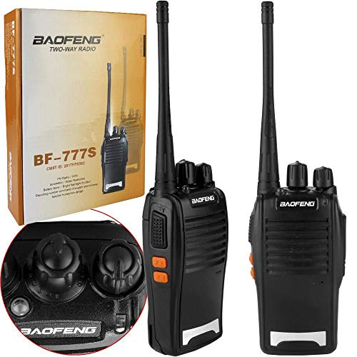 Rádio Comunicador Walk Talk Baofeng BF-777S + Fone de Ouvido