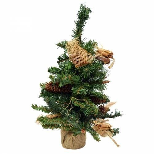 Sapin de Noël 45 cm décoré pour la table