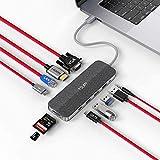 Dual USB C HUB TSUPY Type C HUB 12 in 1 Thunderbolt 3 Hub with USB C Data Port, 100W PD, 4K HDMI 1080P VGA , USB-C Ethernet,3 USB 3.0/2.0,Audio/Mic,Tf/SD Slots for MacBook Pro, Dell, HP and More