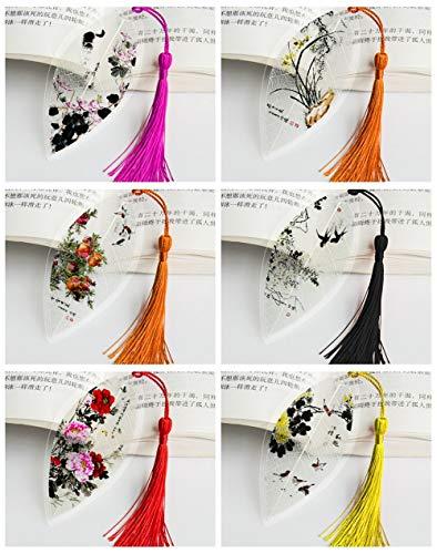THTHT Vintage Vene bladwijzer creatieve tekening bloemen, vogels, vissen, insecten klassieke Chinese stijl student kantoor kinderen lezen paar cadeau simpel mode 6-delig pak