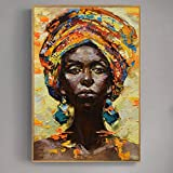 KWzEQ Imprimir en Lienzo Resumen Mujer Africana para decoración de la Pared posterliving Room Posters anddecor50x60cmPintura sin Marco