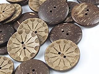 YAKA 50pc New Thick Coconut Shell 2 Holes Button Craft/Sewing/hot Products