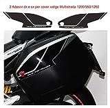 Vulturbike Aufkleber für seitliche Koffer - Ducati Multistrada 950/1200 / 1260 (weiß)