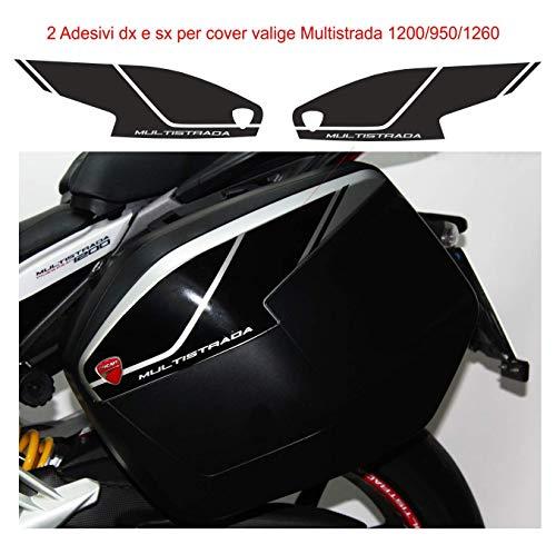 Vulturbike Adhesivos para Maletas Lateral - Ducati Multistrada 950/1200/1260 - Blanco