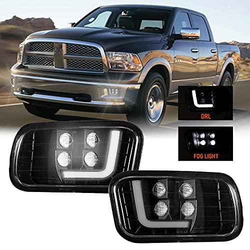 LED Fog light with Daytime Running Light for Dodge Ram 2009-2012 1500, 2010-2017 2500/3500 Driving Fog Lamps Assembly Pickup Truck