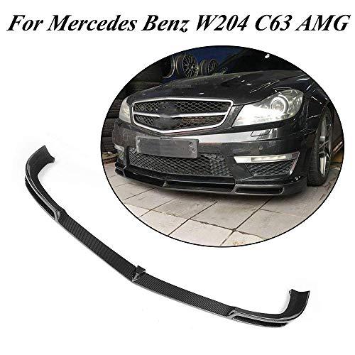 Auto Front Stoßstange Lippe, passt für Mercedes Benz C Klasse W204 C204 C63 AMG Stoßstange Coupé Limousine 2012-2014 Kohlefaser Frontstoßstange Lip Chin Spoiler