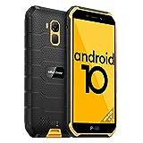 Telephone Portable Incassable Pas Cher, Android 10 4Go+32Go Quad-Core 1.8Ghz Smartphone Débloqué 4G 4000mAh, 5Pouces, 13MP+5MP Dual SIM NFC Face ID E-Boussole OTG Antichoc Étanche Ulefone Armor X7 Pro
