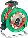 Brennenstuhl Garant® G IP44 enrollacables para jardín 23+2 m con Acoplamiento Externo (Cable de 25 m en Color Rojo, Uso Corto en Exteriores, Made in Germany)