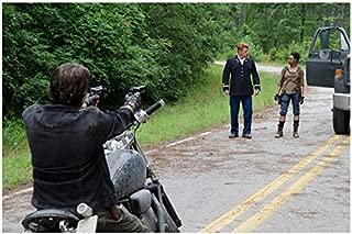 The Walking Dead man aiming guns at Michael Cudlitz as Abraham and Sonequa Martin-Green as Sasha 8 x 10 Inch Photo