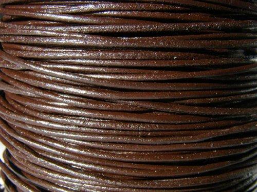 Lanière en cuir, cordon en cuir, courroie en cuir, 5 m. Environ 1,0 mm. Marron