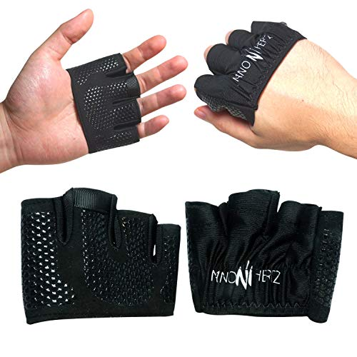 Nano Hertz Gewichtheben Crossfit Workout Fitness Handschuhe | Schwielen-Schutz Fitnessstudio Barehand-Griff Zubehör | Bieten Halt beim Crosstraining, Rudern,Power-Lifting,Klimmzüge für Männer & Frauen