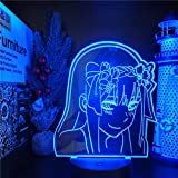 Anime 3D Luz Noche Figuras Anime Zero Dos Juguetes Set Niños Lampara Acción Figural Coleccionista Brinquedos Darling en el Franxx Model-Touch Remoto