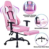 VON RACER Massage Gaming Chair - High Back Racing PC Computer Desk Office