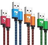 Micro USB Kabel, Yosou [4-Stück, 0.5M+1M+1.5M+2M] Android Handy Ladekabel Nylon Micro USB Schnellladekabel für Samsung Galaxy S7/S6/S5/J7/J5/J3/Note 5, Huawei, Sony, Tablet, Xiaomi, Nexus, PS4