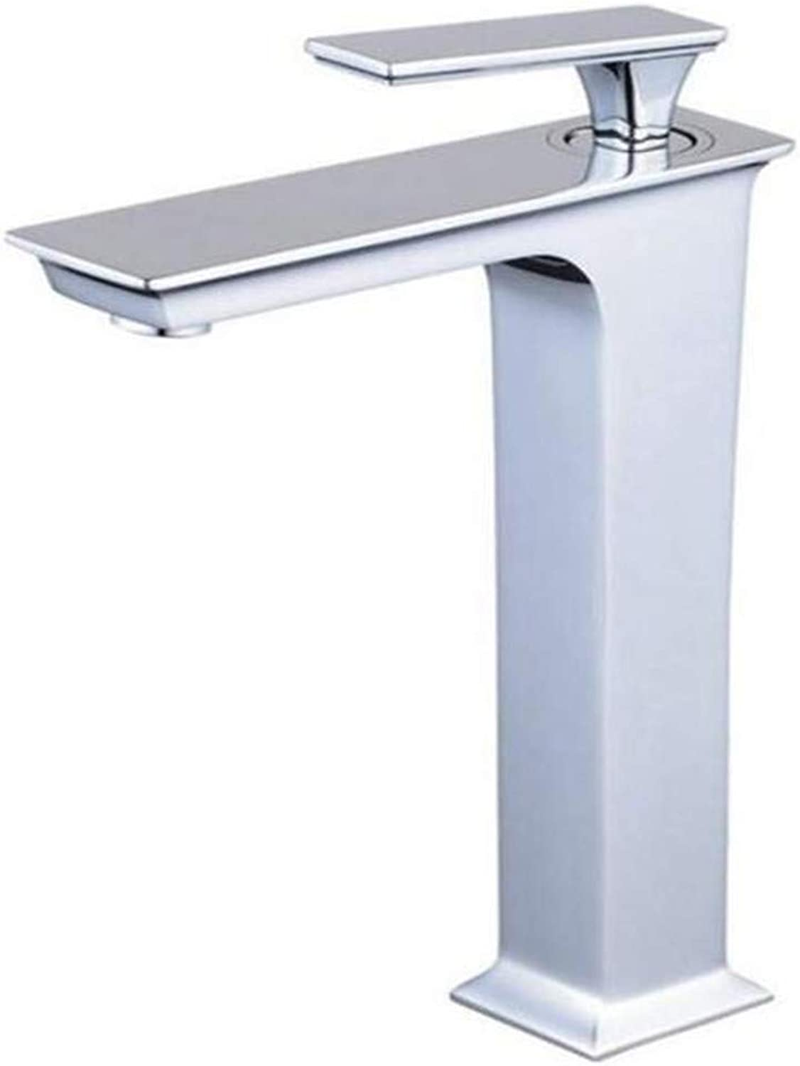 Faucet Luxury Plated Modern Faucet Faucet Washbasin Mixer Chrome Bathroom Basin Faucet Counter Basin Cold Hot Water Mixer Tap