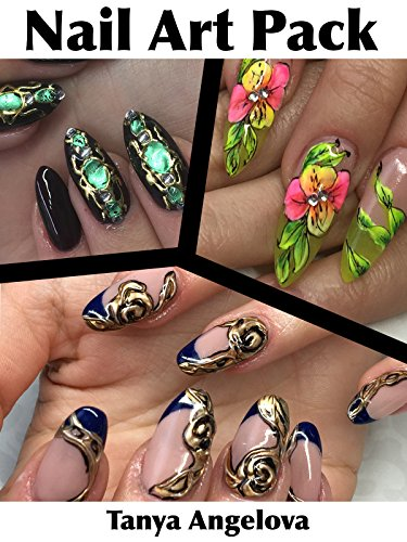 Nail Art Pack: Floristic Designs, 3D Golden Rose and Liquid Stone Decorations