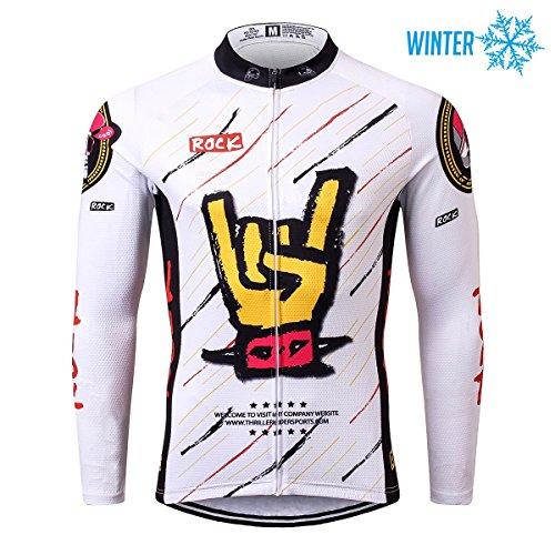 Thriller Rider Sports® Herren Rock Music Sport & Freizeit MTB Fahrradbekleidung Radtrikot Langarm Thermisch Warm Jacke X-Large