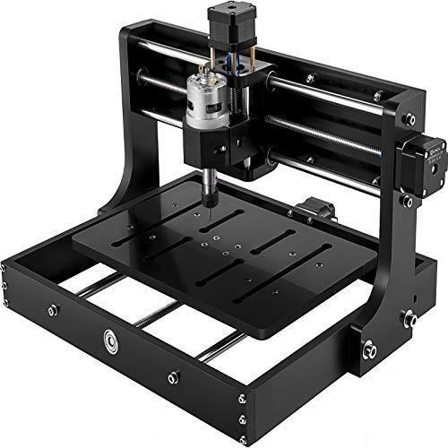 VEVOR CNC 3020 Pro Macchina per Incidere 300 X 200 X 40mm, Incisione Laser 24V 5A, Fresatrice Verticale Legno per Incidere Legno, Plastica, Acrilico, Bambù, Rame e Alluminio e Altri Metalli Teneri