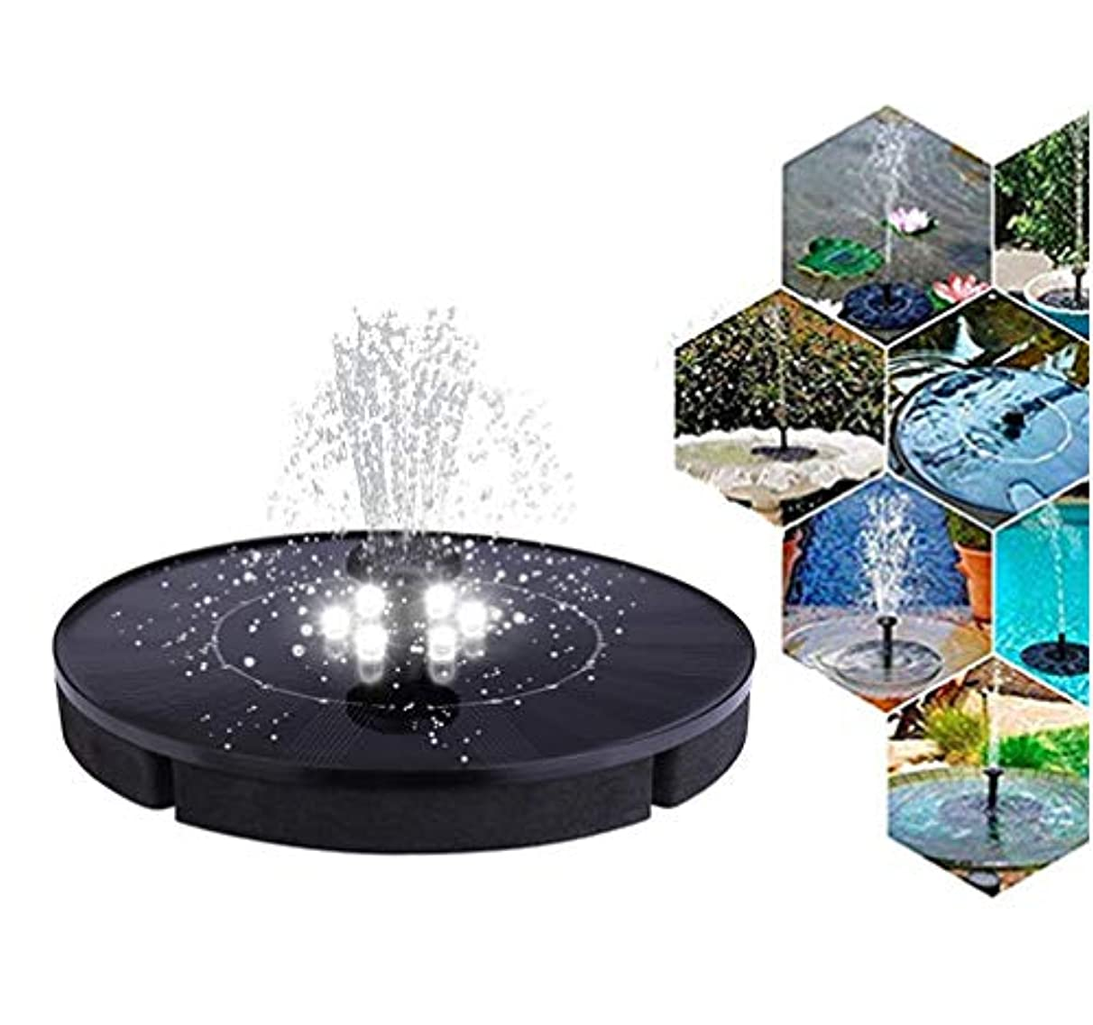 Solar Powered Fountain With lamp,Portable night light Water Fountain,Solar Powered Bird Bath Fountain Pump,Submersible Solar Water Pump Kit for Small Pond, Pool and Garden Decoration (7.08×7.08in)