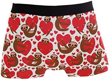 Fitted Boxer Bóxer Perezoso del día de San Valentín con corazón Rojo Día de San Valentín 002 Boxer Calzoncillos para Hombre,6,XXL