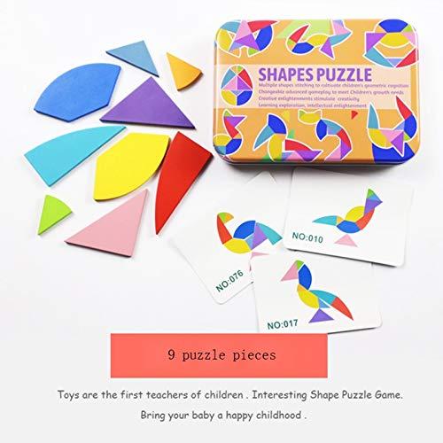 Smklcm For volwassenen en kinderen Geometry 3D Houten Blok van de kubus puzzel Safe Wooden Toys for Educational Preschool kinderen of kinderen ontwikkeling van de hersenen Toys