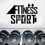 Creativo gimnasio Fitness deporte calcomanías de pared vinilo removible arte decoración del hogar pegatina cita cartel estilo de vida saludable Mural Interior 84 * 130 cm