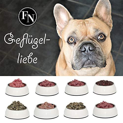 Barf-Futter > Geflügelliebe < 20 x 500 g gemischte Fleischpakete, rohes Hundefutter komplettmenü gefroren