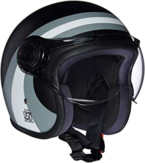 Royal Enfield Grey Open Face with Visor Helmet Size (L)60 CM (RRGHEI000023)