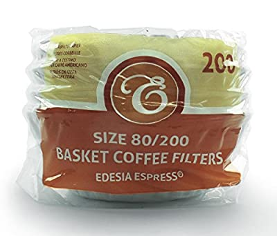 200 x 2 Pint / 8 to 12 Cup Basket Coffee Filter Papers by EDESIA ESPRESS