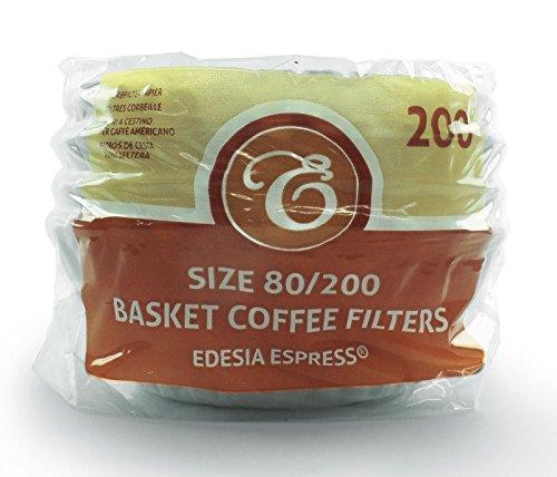 EDESIA ESPRESS - 200 filtres à café en papier - forme corbeille - 8 à 12 tasses - 80/200 mm