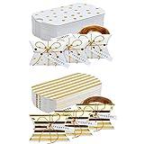50 Piezas Cajas de Almohadas de Papel, Caja de Dulces De Papel, Cajas de Almohadas Favor de la Boda, para Cumpleaños Fiesta de Navidad
