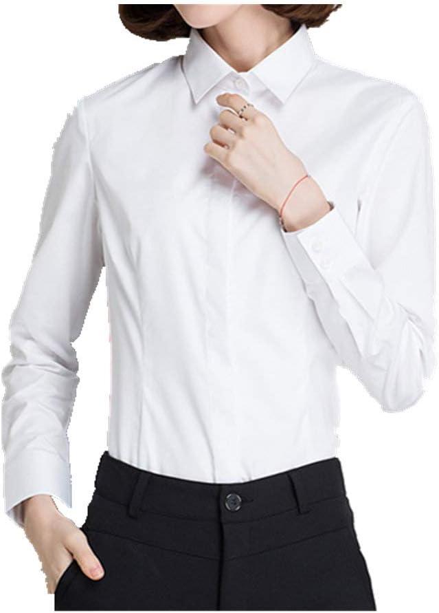 N\P Camisa blanca de la manga larga de la camisa de las ...