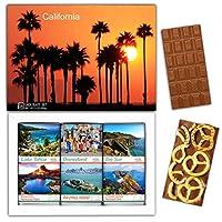 "DA CHOCOLATE キャンディ スーベニア ""カリフォルニア"" CALIFORNIA チョコレートセット 7,2×5,2一箱 (MILK Blueberry Coconut Pretzel)"