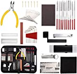 45 Pieces Complete Guitar Repairing Maintenance Tool Kit,Guitar Cleaning Care Accessories Tool with Bag For Acoustic Guitar Electric guitar Ukulele Bass Banjo,Gift for Music Enthusiast