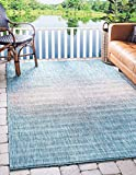 """Pile: Polypropylene - Weave: Machine Made (Power-Loomed) - Made in: Egypt Size in FT: 6' 0 x 9' 0 - Size in CM: 185x275 - Pile Height & Thickness: 1/6"""" - Colors: Aqua Blue, Beige Easy-to-clean, stain resistant, and does not shed - This rug can be use..."""