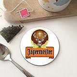 BigBazza R&e r&e r&e Holz-Untersetzer für Kaffee, Tee, Büro, Küche, Tasse, Arbeitstasse – Jägermeister Getränke, Alkoholbar, Kneipe, Schuppen, Männerhöhle