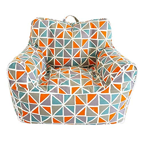 Beanbag Tatami Lazy Couch Thick Cushion Single Fabric Sofa Chair Bedroom Simple Chair Detachable Small Size 60times;48times;55cm (Color : Zebra pattern) WDH666 (Color : Plaid Orange)